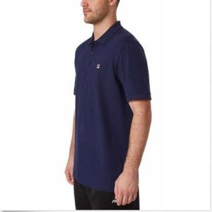 Fila Shirts - Fila Men's Short Sleeve Polo Navy Blue Size XXL